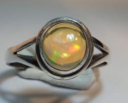 6 sz Mexican Water  Opal Sterling Silver Ring