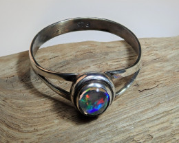 6.5 sz Mexican Water  Opal Sterling Silver Ring