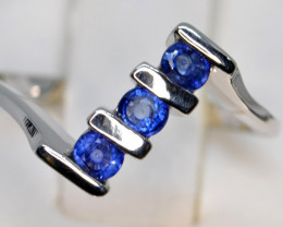 Natural Sapphire and Silver Ring