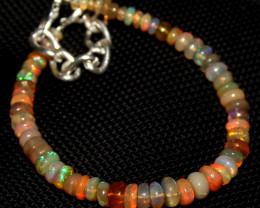 30 Crts Natural Ethiopian Welo Fire Opal Beads Bracelet 228