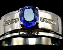 100% Natural Blue sapphire 925 Sterling silver ring