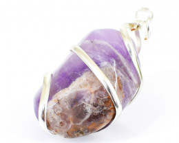 Bi-Color Amethyst Tumble Pendant
