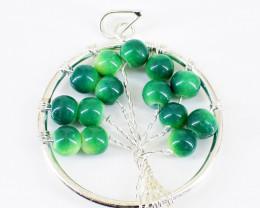 Green Onyx Tree Pendant