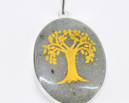 Rutile Quartz Tree Pendant