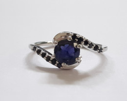 Iolite 925 Sterling silver ring #480