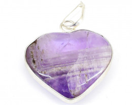 Bi-Color Amethyst Heart Shape Pendant