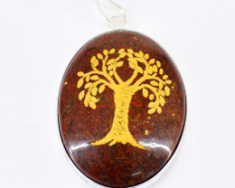 Red Jasper Tree Pendant
