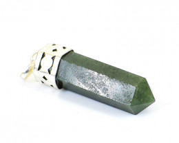 Green Jade Healing Point Pendant