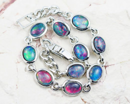 Modern Australian  Fire Opal Triplet Bracelet WS 1019