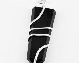 Black Spinel Healing Wand Pendant