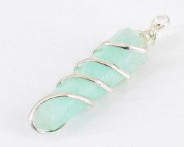 Chalcedony Healing Point Pendant