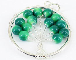 Green Onyx Tree Pendant