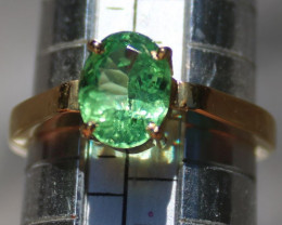 Tsavorite Green Garnet 1.87ct 18K Solid Gold Ring, Certified and Appraised,