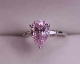 Cubic Zirconium And Silver Ring.