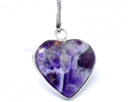 Bi-Color Amethyst Heart Pendant