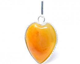 Yellow Aventurine Heart Shape Pendant