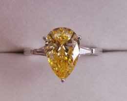 Yellowish Zircon Ring