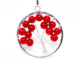 Red Onyx Tree Pendant