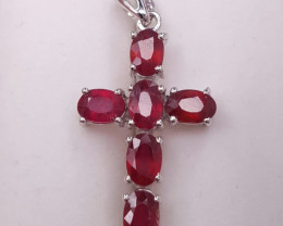 Glass Filed Ruby Necklace