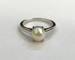 Pearl 925 Sterling silver ring #751