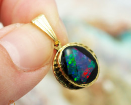 Bright  natural Opal pendant  OPJ 1026