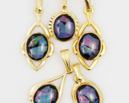 Five  Bright  natural Opal pendants  OPJ 1035