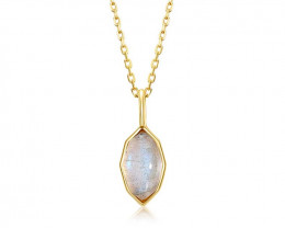 Stunning Labradorite Necklace - Gold Plated