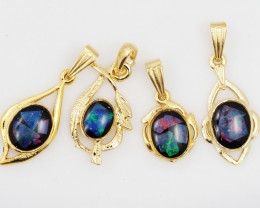 Four  Bright  natural Opal pendants  OPJ 1047