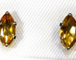 Silver Citrine Earrings