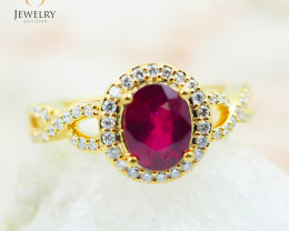 RUBY 18K Yellow Gold & Diamonds Ring - RV15