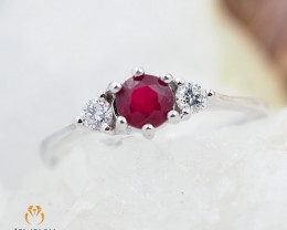 RUBY 18K White Gold & Diamonds Ring - RV13