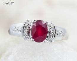 RUBY 18K White Gold & Diamonds Ring - RV21