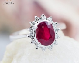RUBY 18K White Gold & Diamonds Ring - RV24