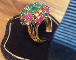 Made in Italy Wonderful 18k Solid Gold Handmade Ring