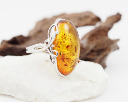 Baltic Amber Sale,Silver Ring  , direct from Poland  AM 841