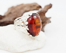 Baltic Amber Sale,Silver Ring  , direct from Poland  AM 845