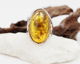 Baltic Amber Sale,Silver Ring  , direct from Poland  AM 846