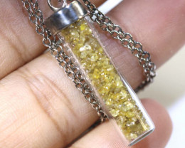 28 CTS DIAMOND CRYSTAL ROUGH-PENDANT SG-402