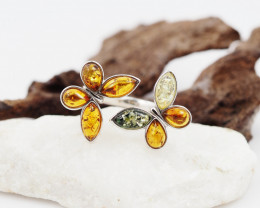 Baltic Amber Sale,Silver Ring  , direct from Poland  AM 849