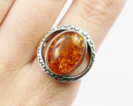 Baltic Amber Sale,Silver Ring  , direct from Poland  AM 850