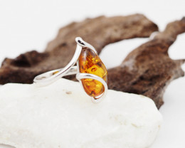 Baltic Amber Sale,Silver Ring  , direct from Poland  AM 852