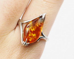 Baltic Amber Sale,Silver Ring  , direct from Poland  AM 853