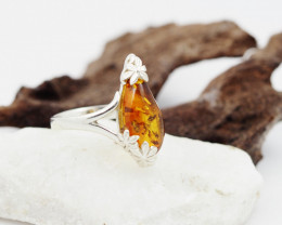 Baltic Amber Sale,Silver Ring  , direct from Poland  AM 855