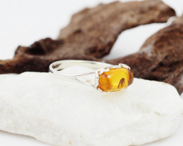 Baltic Amber Sale,Silver Ring  , direct from Poland  AM 857