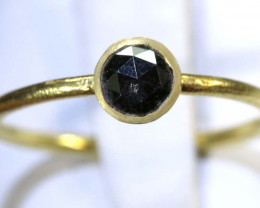 8 CTS BLACK DIAMOND ROSE CUT-RING  SG-418