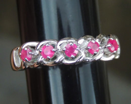 Pink Sapphire in Silver (heat only)
