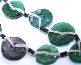 73CTS ANCIENT ROMAN GLASS DRILLED STRAND  SG-873