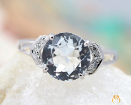 TOPAZ AUSTRALIA 18K White Gold & Diamonds Ring - RTV