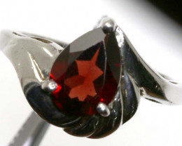 20.40 CTS GARNET RING SILVER RING SIZE- SG-1340