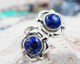Cute Lapis Lazuli Silver earrings AM 857
